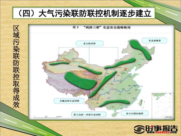 (四)大气污染联防联控机制逐步建立