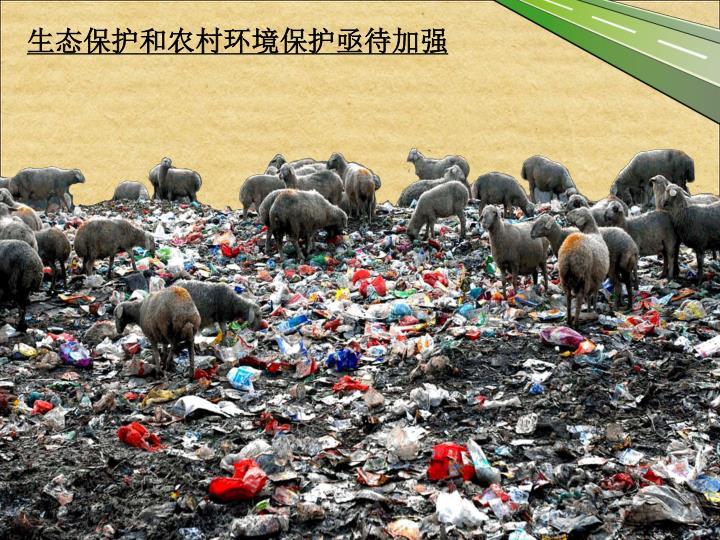 生态保护和农村环境保护亟待加强