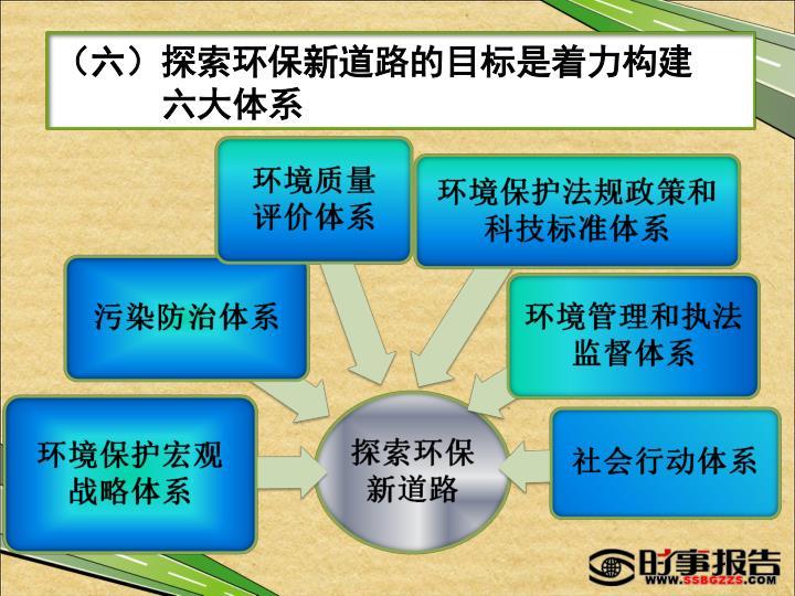 (六)探索环保新道路的目标是着力构建