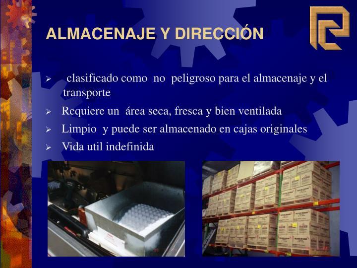 ALMACENAJE Y DIRECCIÓN