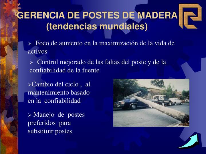 GERENCIA DE POSTES DE MADERA (tendencias mundiales)