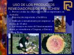 uso de los productos remediadores de preschem