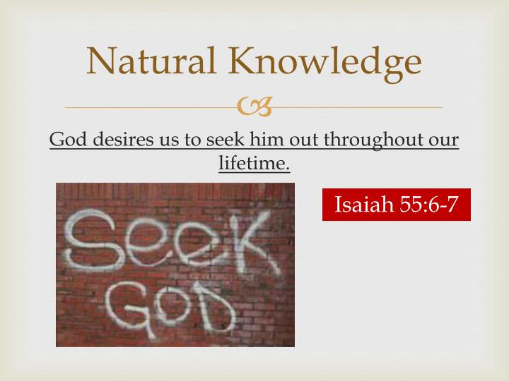 Natural Knowledge