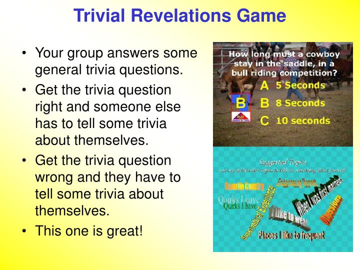 Trivial Revelations Game
