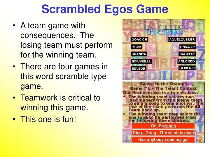 Scrambled Egos Game
