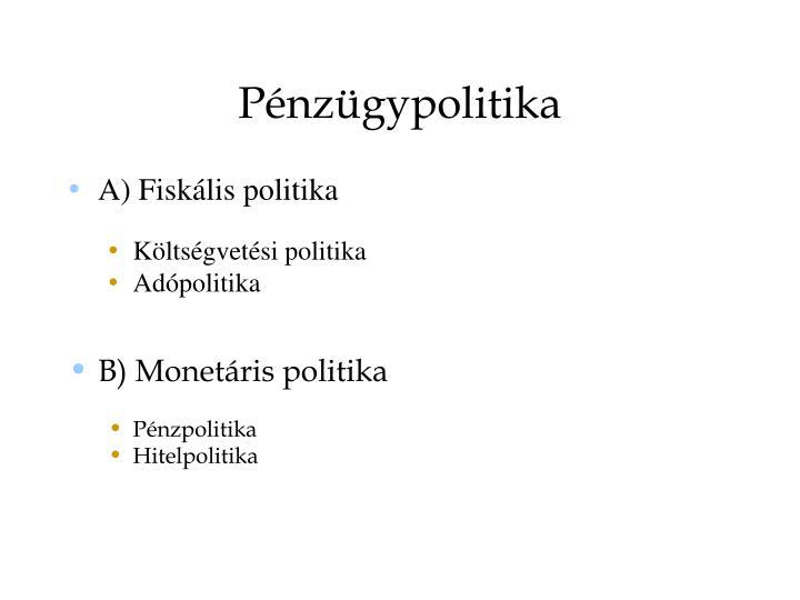 Pénzügypolitika