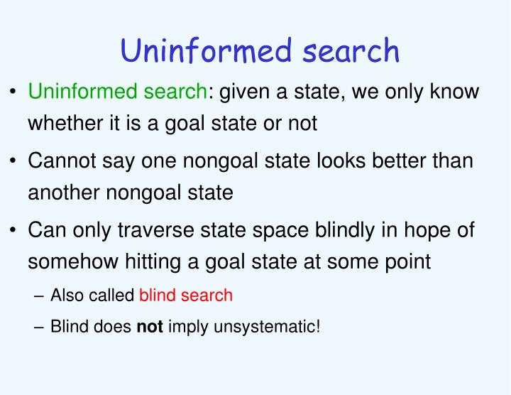 Uninformed search