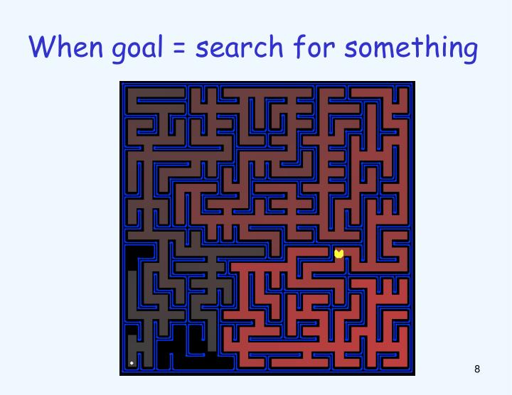 When goal = search for something