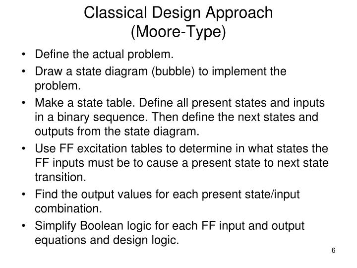 Classical Design Approach