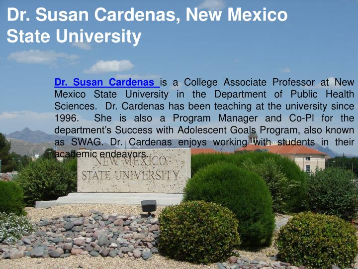 Dr. Susan Cardenas, New Mexico State University