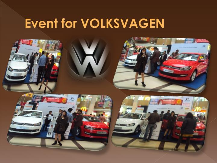 Event for VOLKSVAGEN