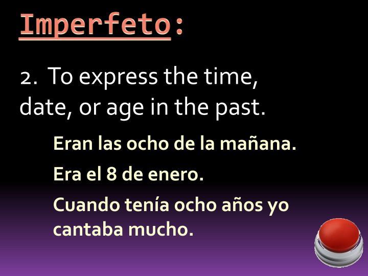 Imperfeto