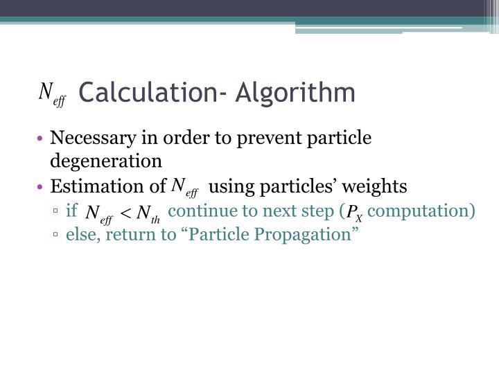 Calculation- Algorithm