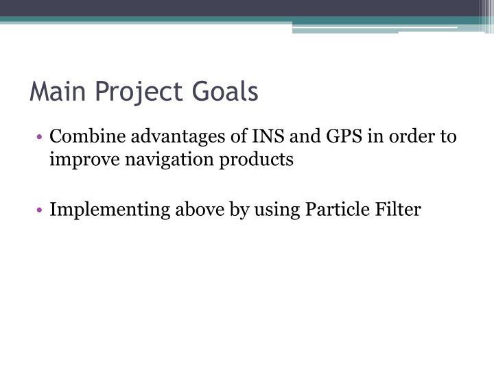 Main Project Goals