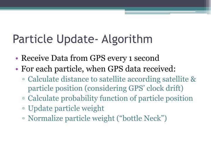 Particle Update- Algorithm