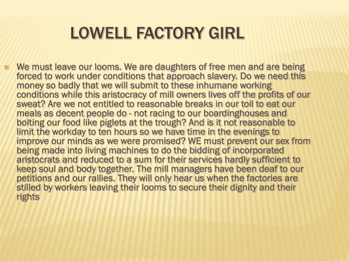Lowell Factory Girl