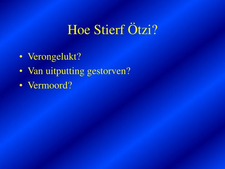 Hoe Stierf Ötzi?