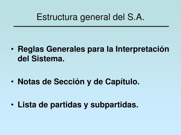 Estructura general del S.A.