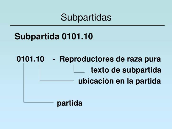 Subpartidas