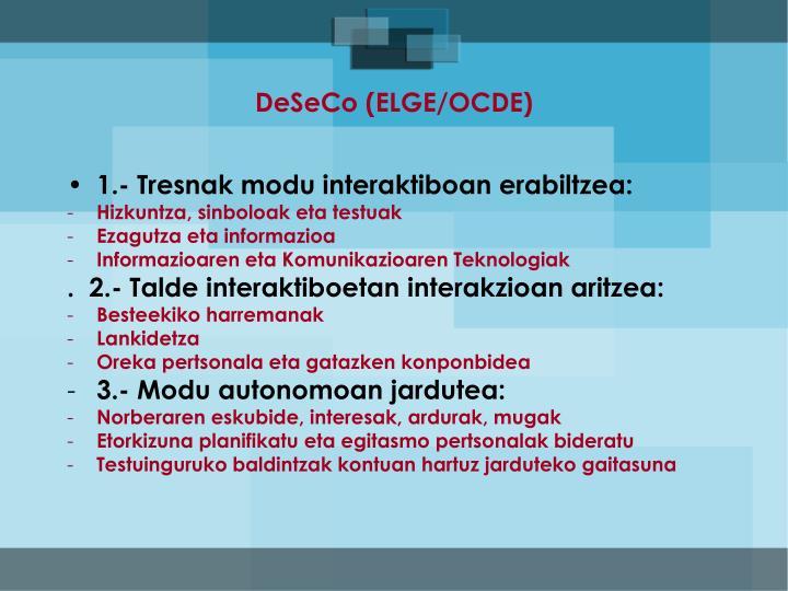 DeSeCo (ELGE/OCDE)