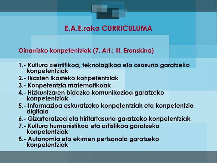 E.A.E.rako CURRICULUMA