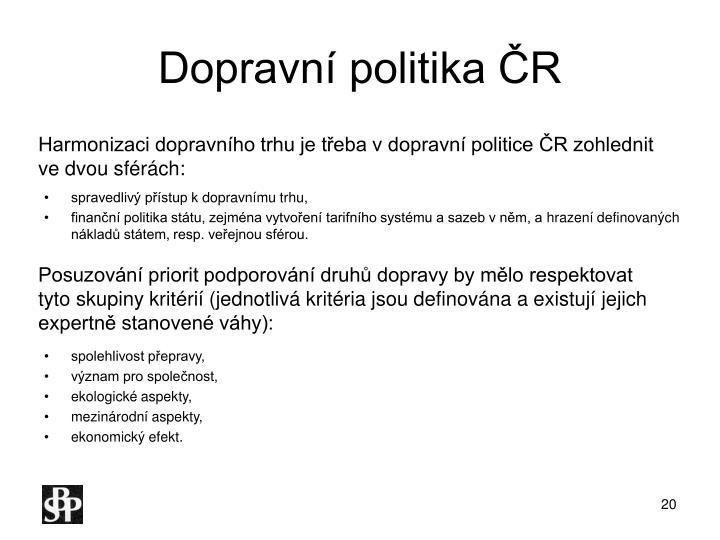 Dopravní politika ČR