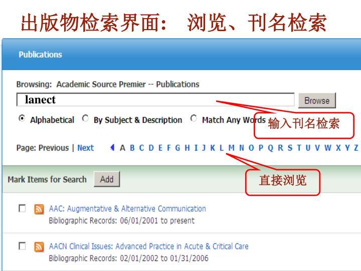 出版物检索界面