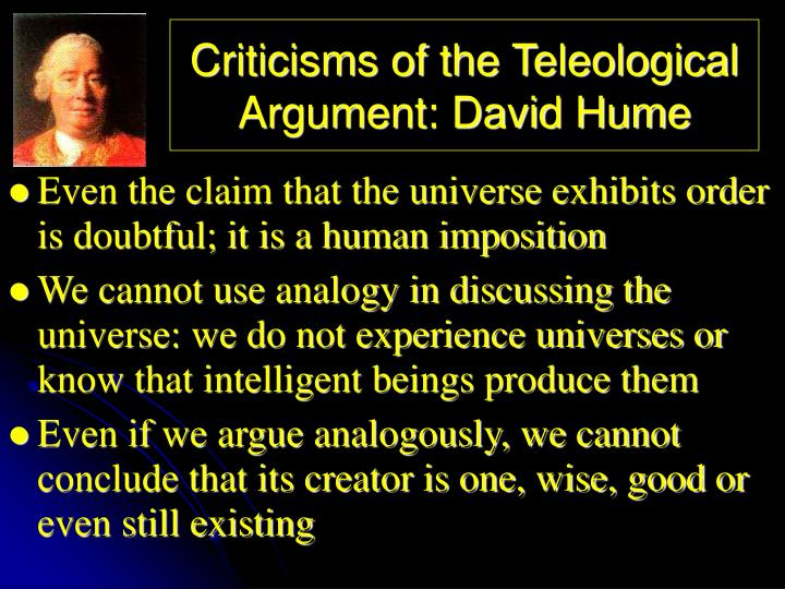 Criticisms of the Teleological Argument: David Hume