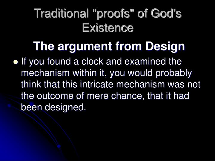 "Traditional ""proofs"" of God's Existence"