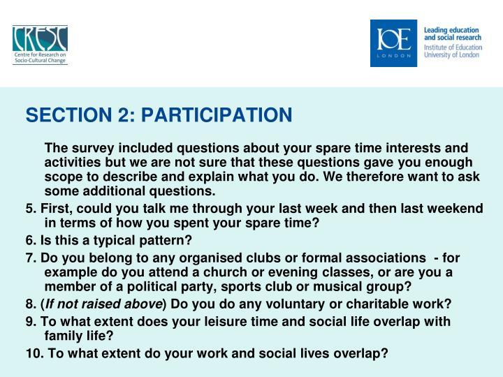 SECTION 2: PARTICIPATION