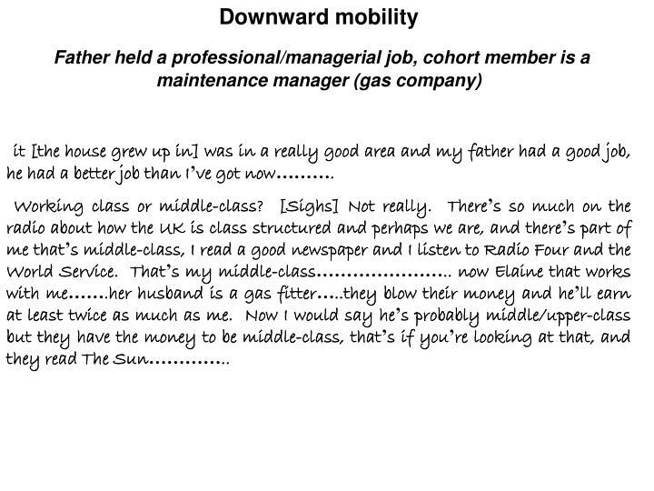 Downward mobility