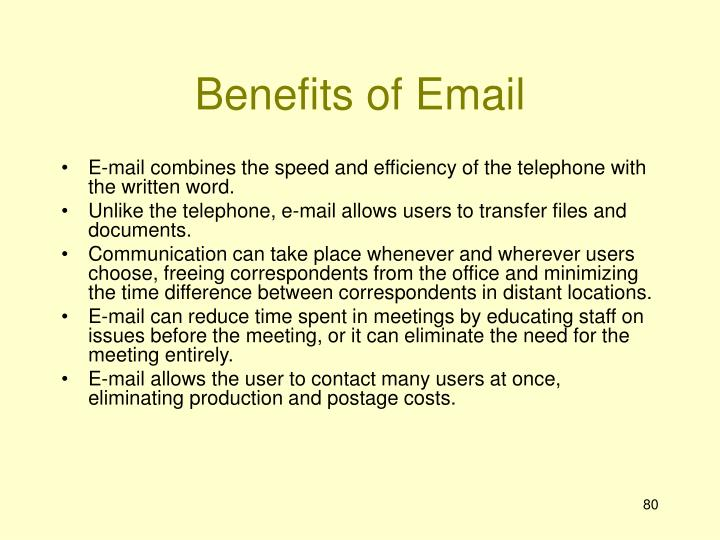 Benefits of Email