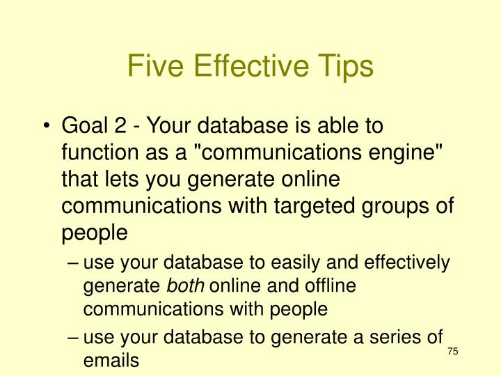 Five Effective Tips