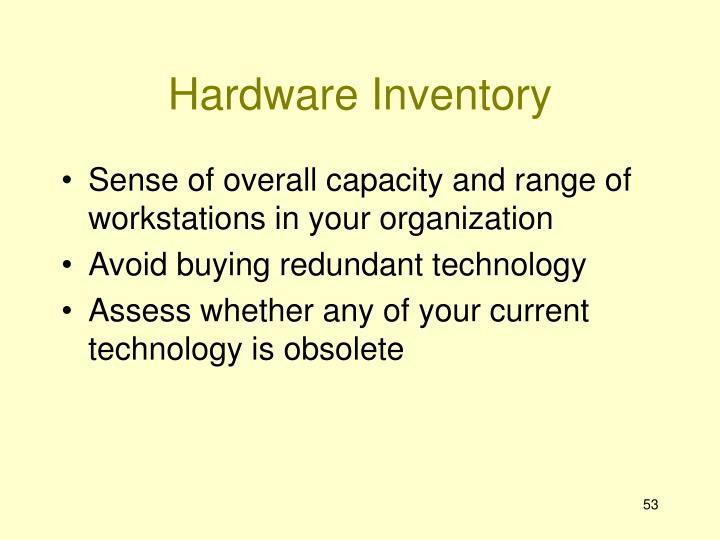 Hardware Inventory