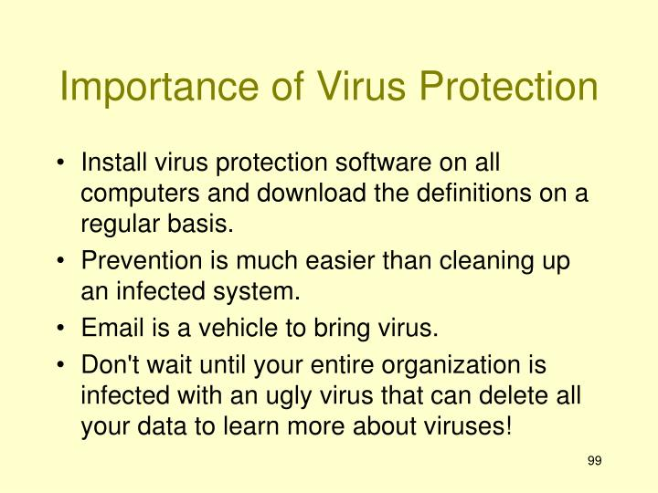 Importance of Virus Protection