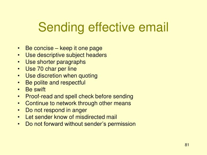 Sending effective email