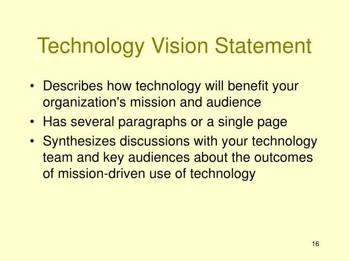 Technology Vision Statement