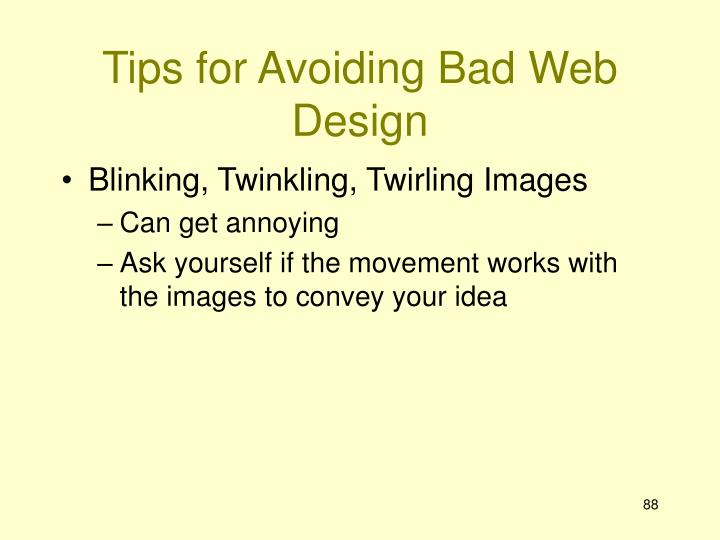 Tips for Avoiding Bad Web Design