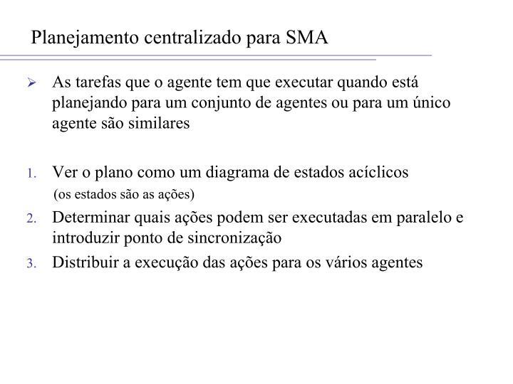Planejamento centralizado para SMA