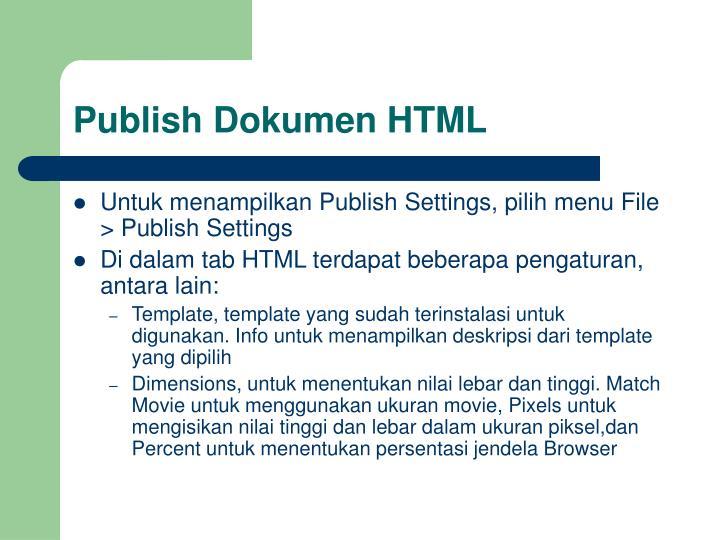 Publish Dokumen HTML