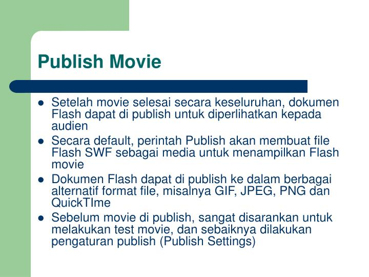 Publish movie