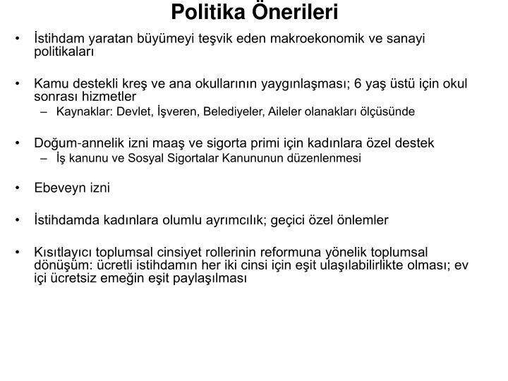 Politika Önerileri