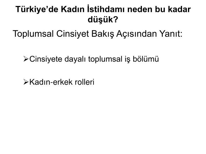 Türkiye'de Kadın İstihdamı neden bu kadar düşük?