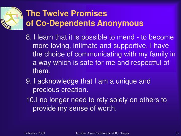 The Twelve Promises