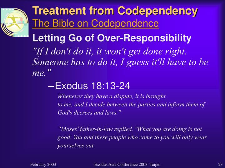 Treatment from Codependency
