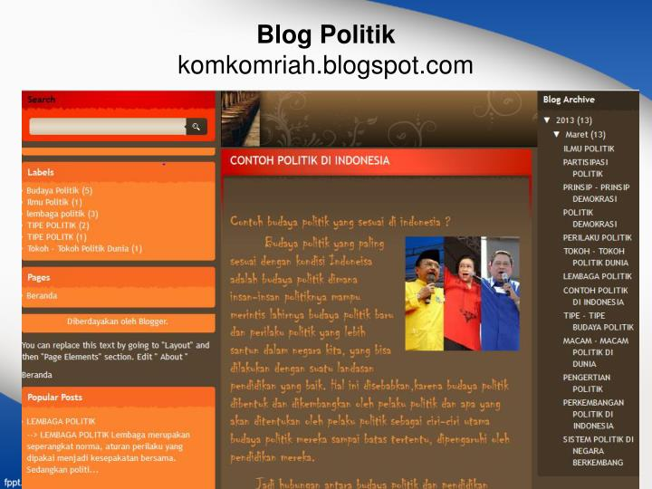 Blog Politik