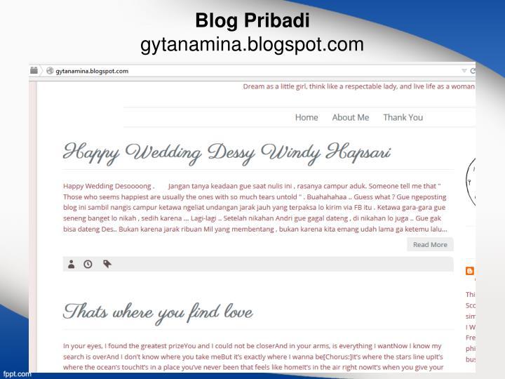 Blog Pribadi