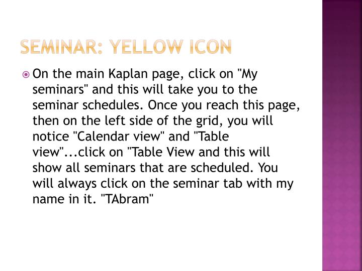 Seminar: Yellow Icon
