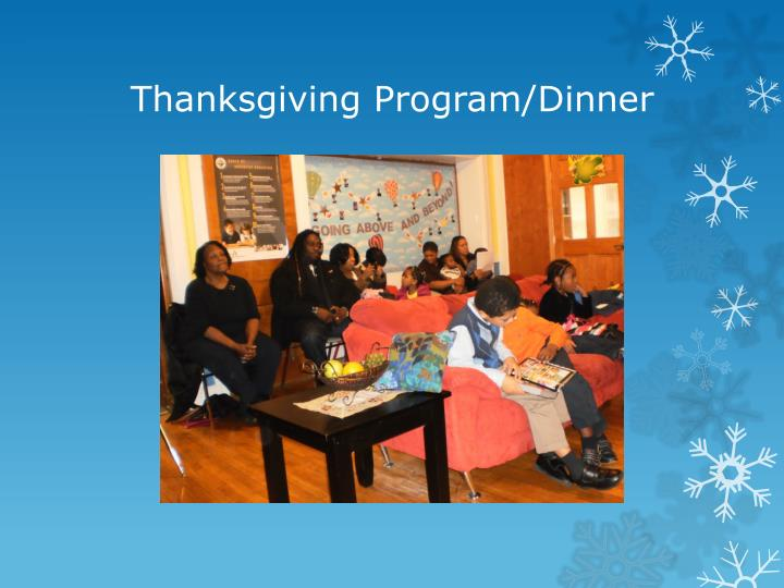 Thanksgiving Program/Dinner