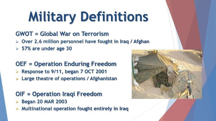 Military Definitions